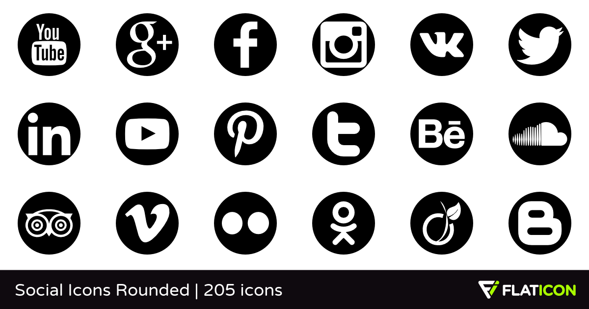 Social Icons Rounded +200 free icons (SVG, EPS, PSD, PNG files).