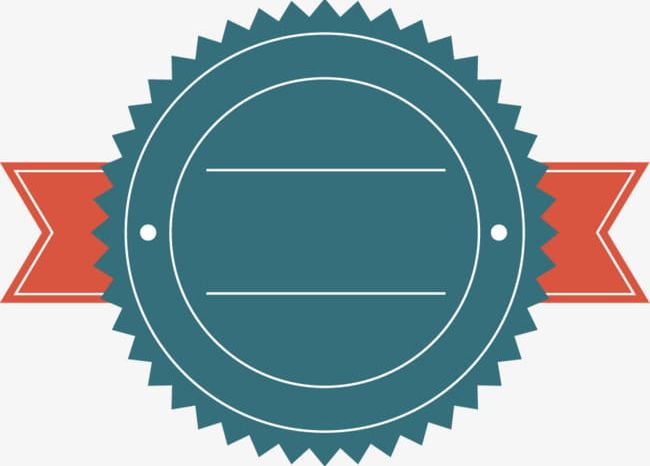 Simple Round Ribbon Promotional Label Border PNG, Clipart.