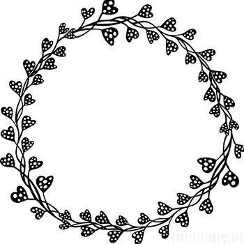 Valentine Heart Circle Frames Round Label ClipArt, Circle.