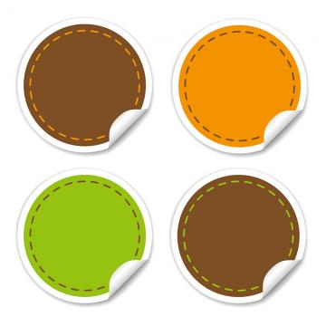 Round Sticker Png, Vector, PSD, and Clipart With Transparent.