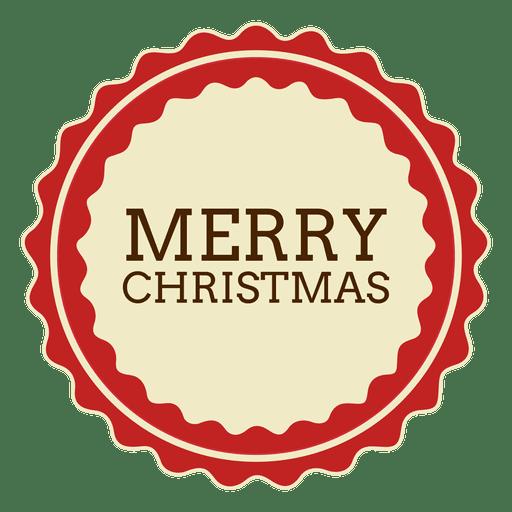 Merryy christmas round label.