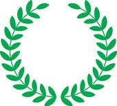 Clip Art Green Leaf Wreath.