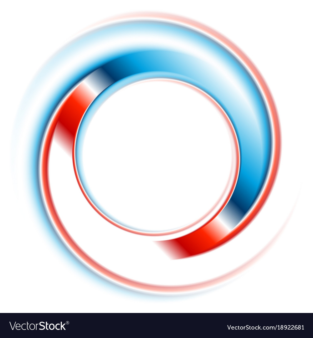 Blue and red round circle logo design.