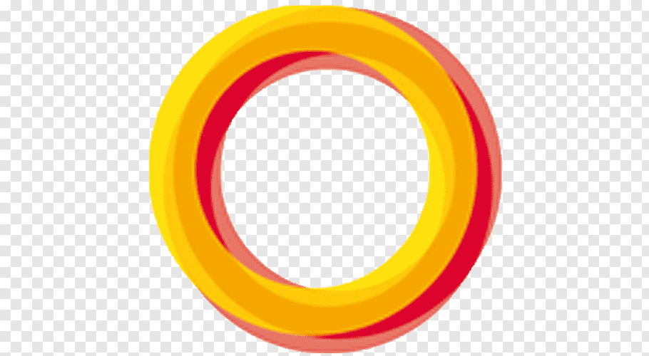 Round red and yellow frame illustration, Circle 7 logo, Icon.