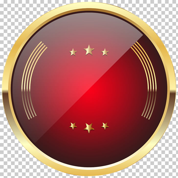Badge Red , Red Badge Template Transparent , round red and.