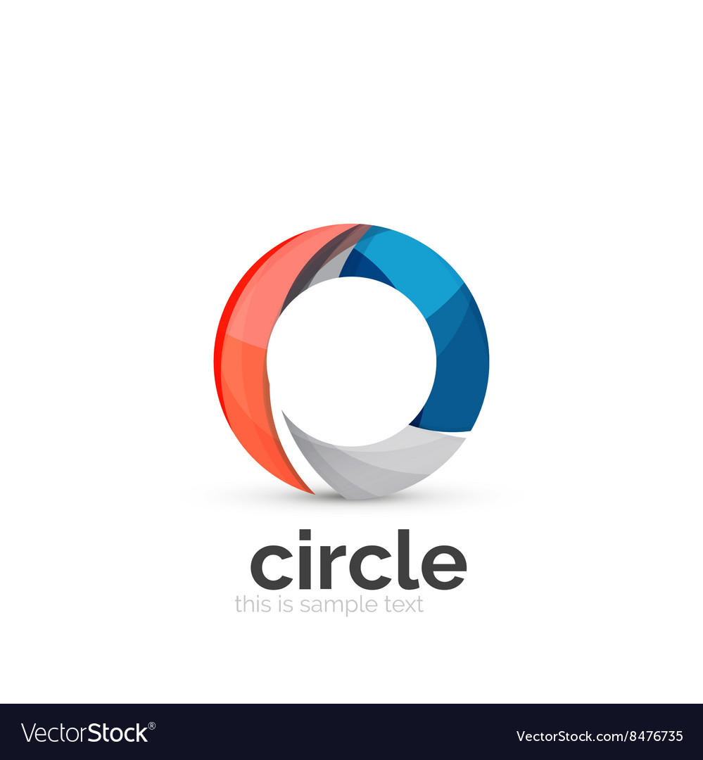 Abstract swirly round logo template.