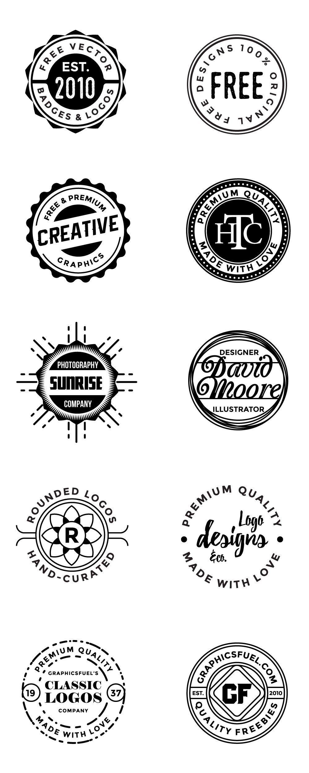 Free Circular logos And Badges.