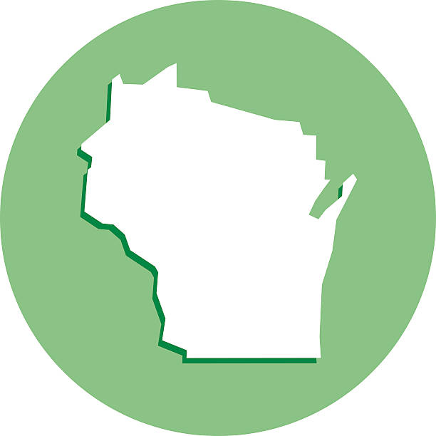 Wisconsin Round Map Icon Clip Art, Vector Images & Illustrations.
