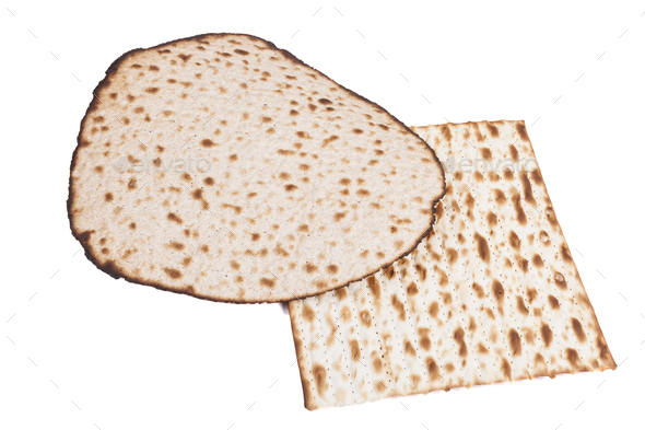 Round and Square Matzah.