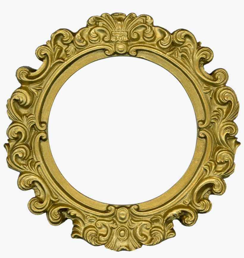 Free Golden Round Photo Frame Download In Ping.