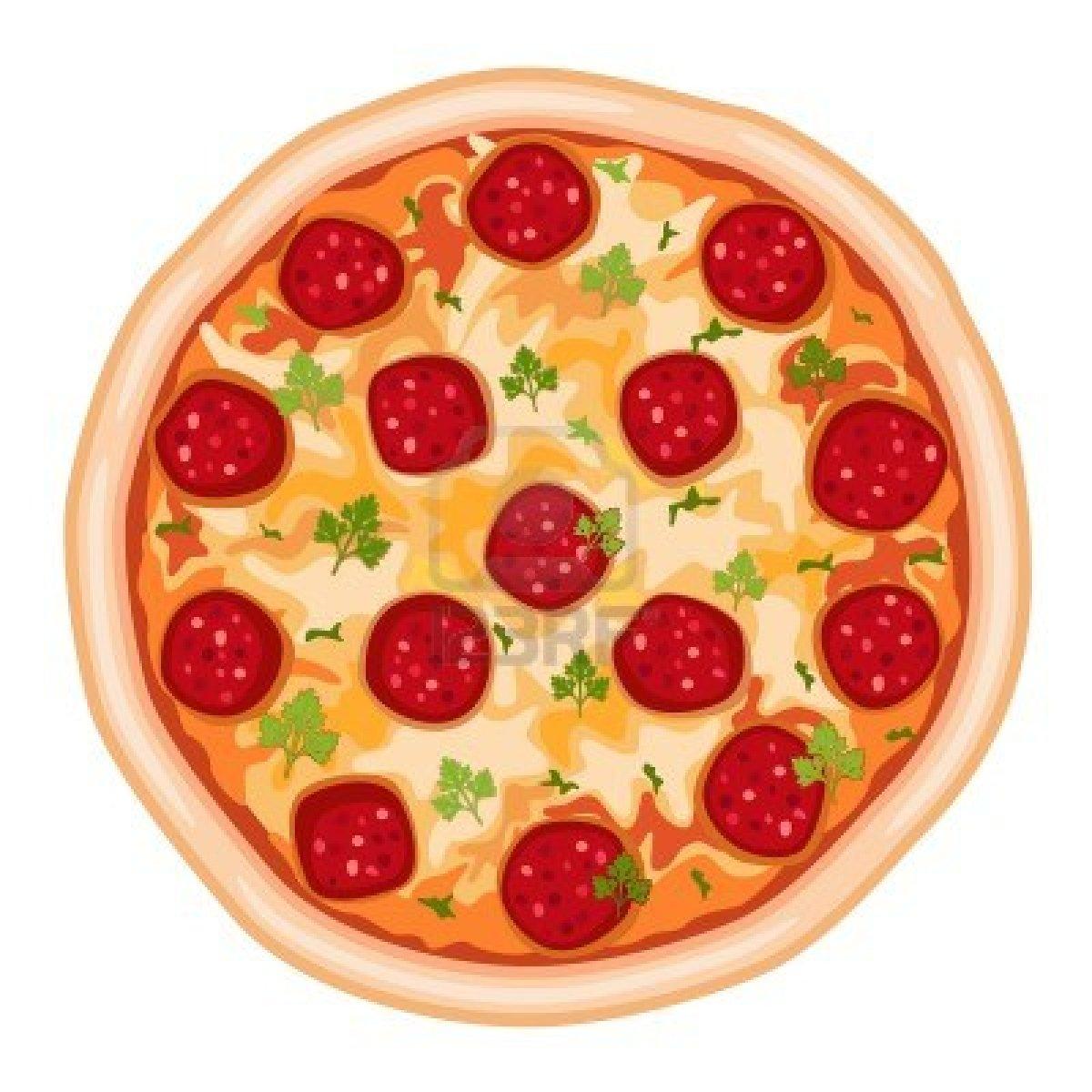 Pizza Clipart Round.