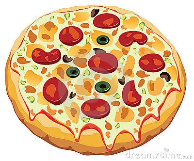 Round Pizza Clipart.