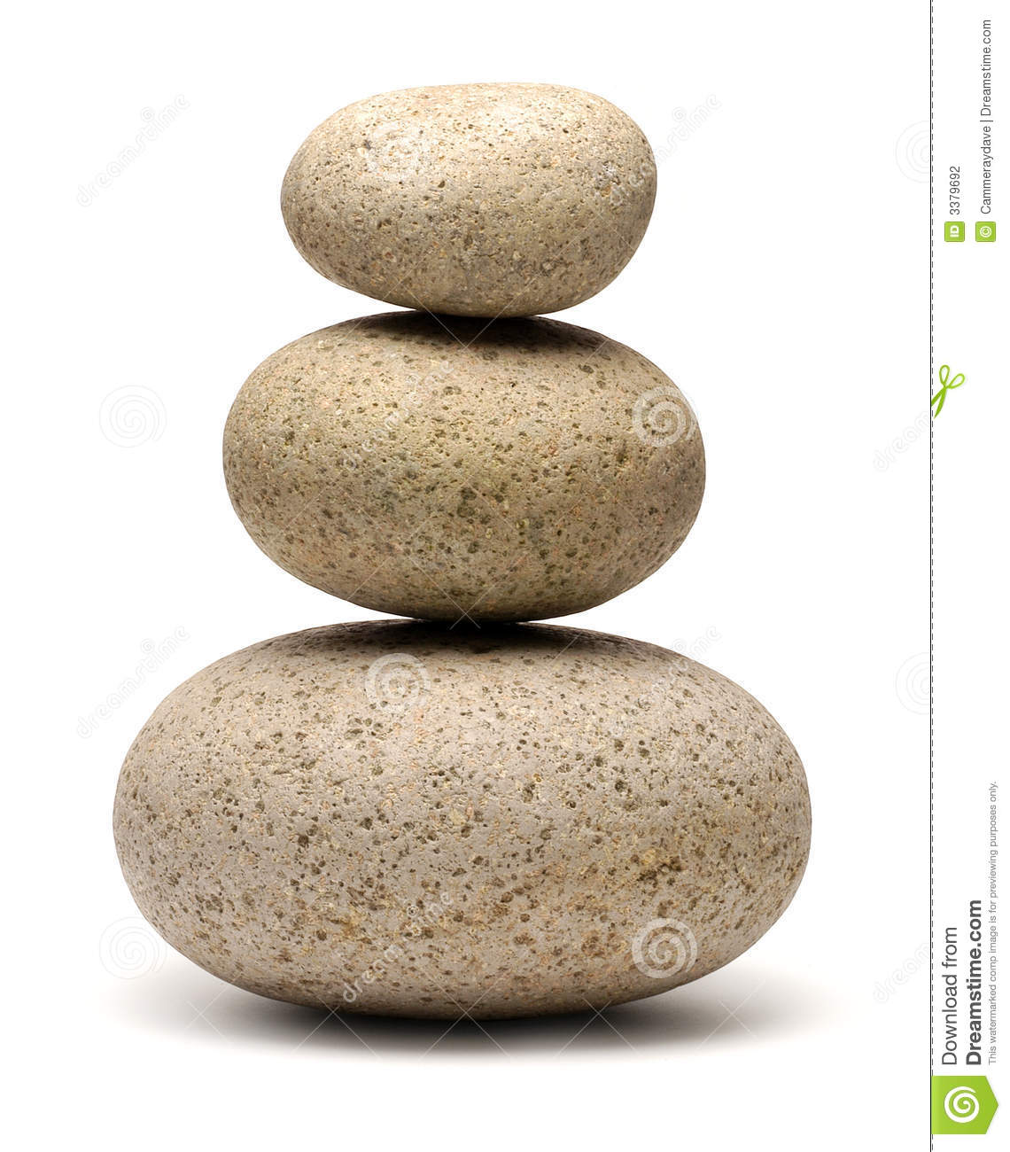 Stack Three Rocks Stones Stock Photography.
