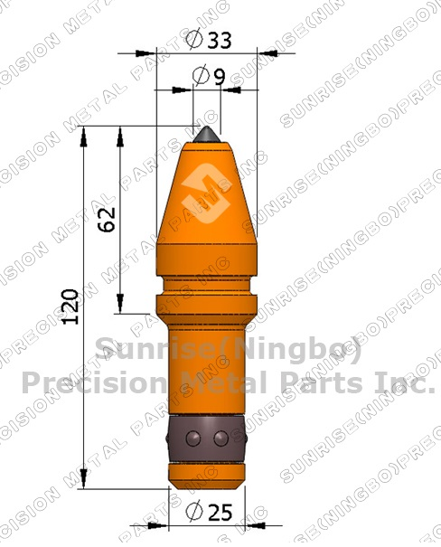 C31 25mm Shank Tungsten Carbide Bit Rotary Round Shank Rock Drill.
