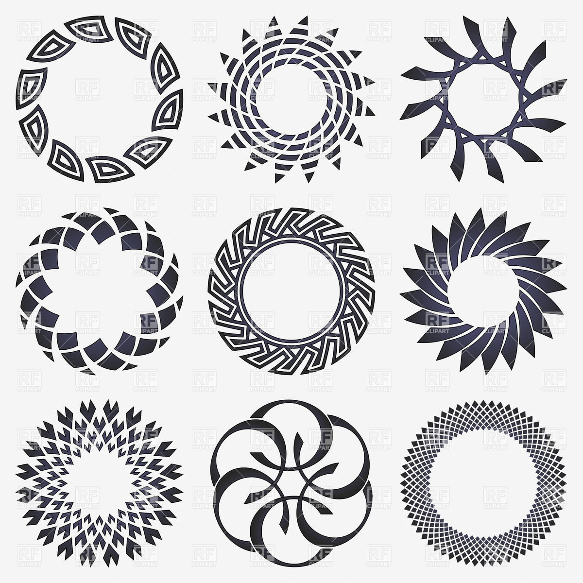 Round shape design clipart 7 » Clipart Station.