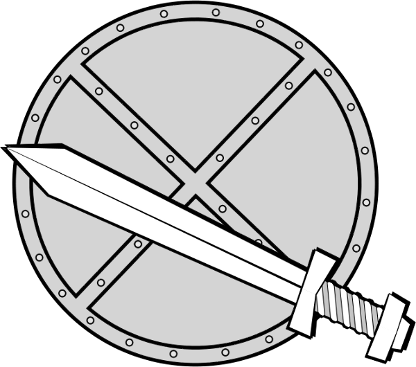 Round Sword And Shield Clip Art Download.