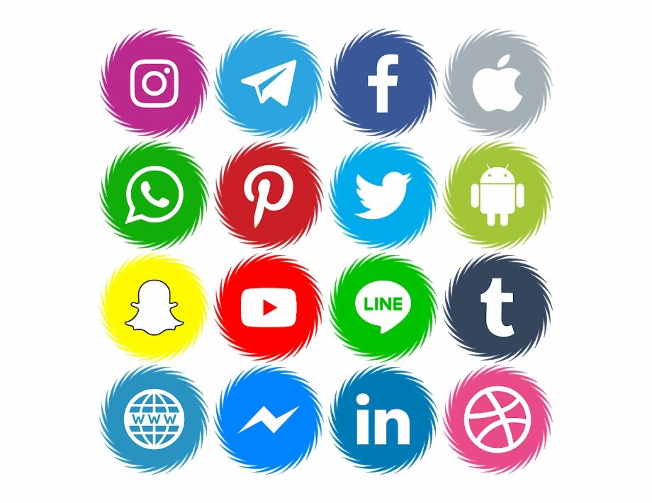 Download Font Icons Social Media 15 Color Ttf.