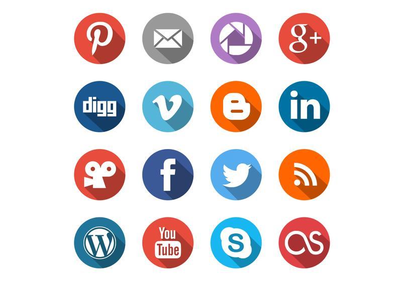 Social Media Icons Free Vector Art.