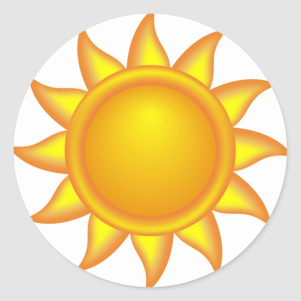 decorative sun. Classic Round Sticker.