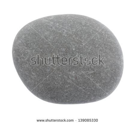 Round Stone Isolated Stock Photos, Royalty.