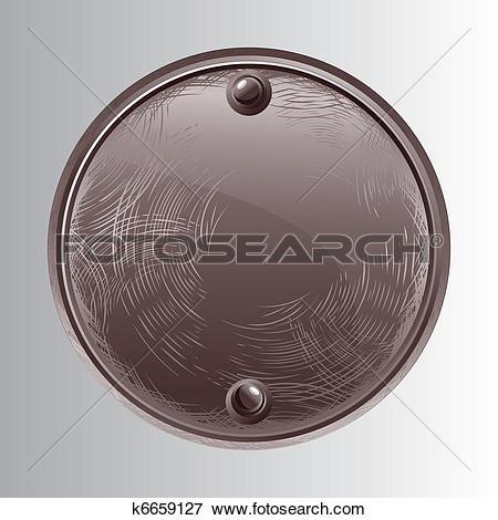 Clip Art of Round Stone k6659127.