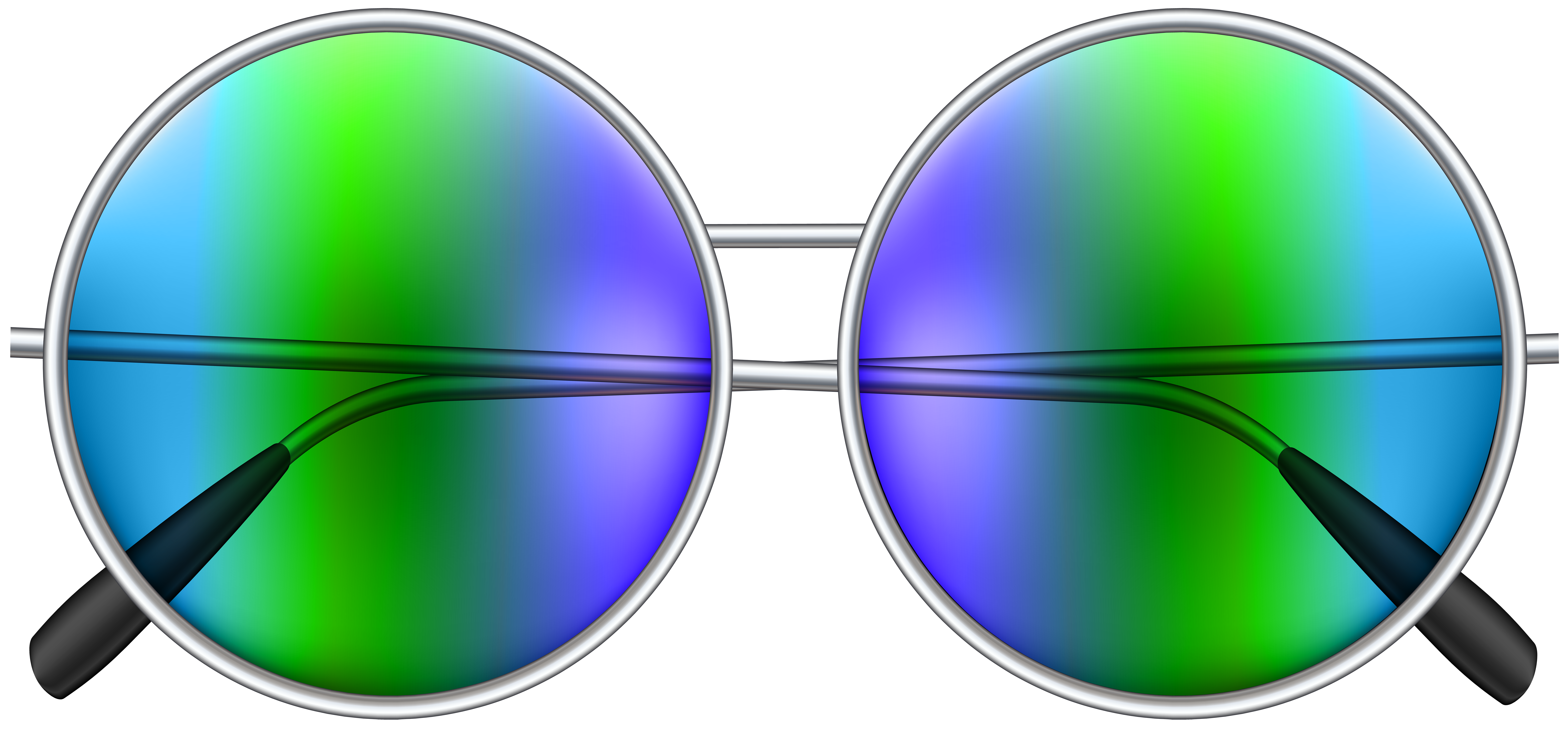 Round Sunglasses PNG Clip Art Image.