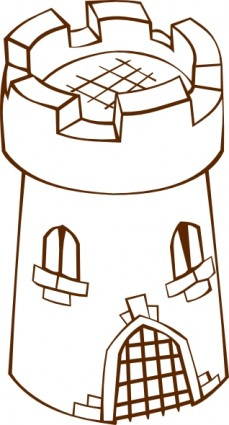 Round Tower Clip Art.