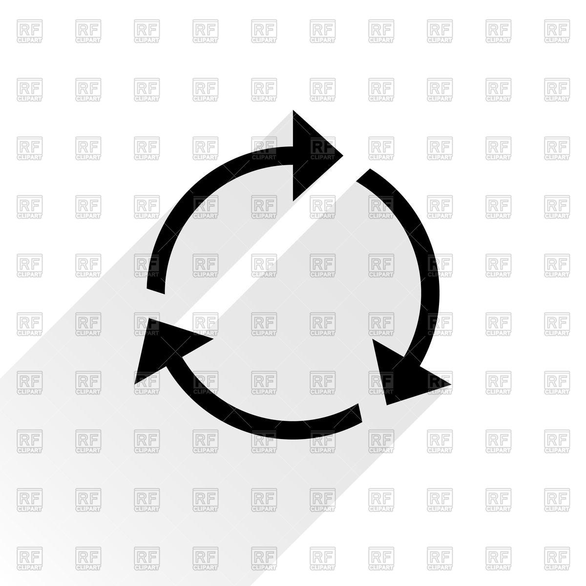 Three sections thin round arrow.
