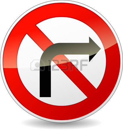 6,313 Right Turn Stock Vector Illustration And Royalty Free Right.