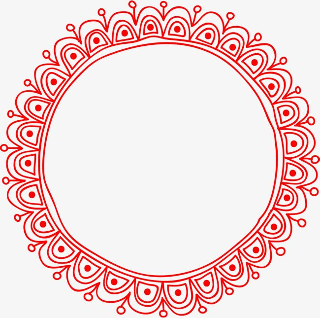 Vector Pattern Round Border Png Image.