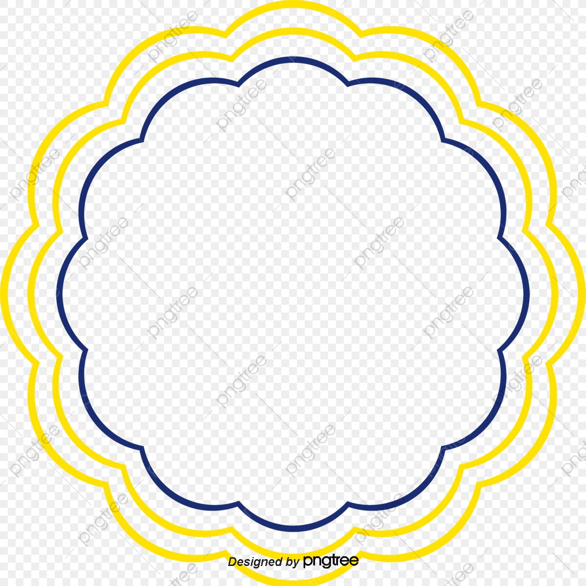 Vector Round Border Png Picture, Round Vector, Border Vector.