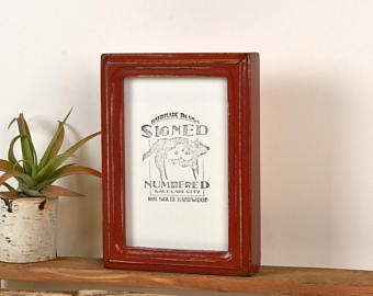 4x6 Picture Frame in Rounded Deep Double Cove Style with Vintage.