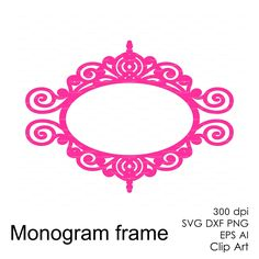 Round Frame silhouettes SVG DXF Vector Cutting file, papercutting.