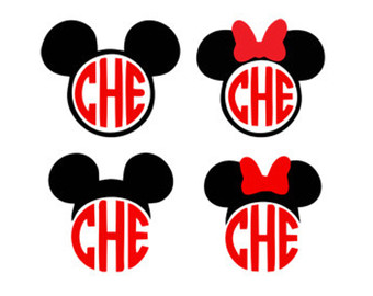 mickey mouse minnie mouse monogram frame svg dxf jpeg png file.