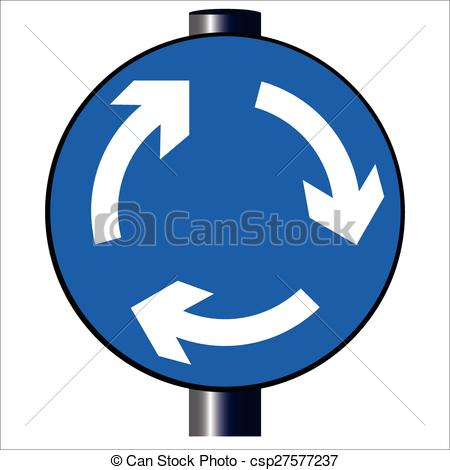 Vectors of Roundabout Traffic Sign.