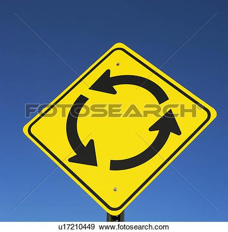Stock Photograph of Roundabout traffic sign u17210449.