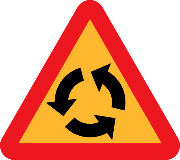 Roundabout Sign Clip Art at Clker.com.