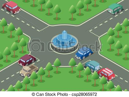 Roundabout road Clipart Vector Graphics. 398 Roundabout road EPS.