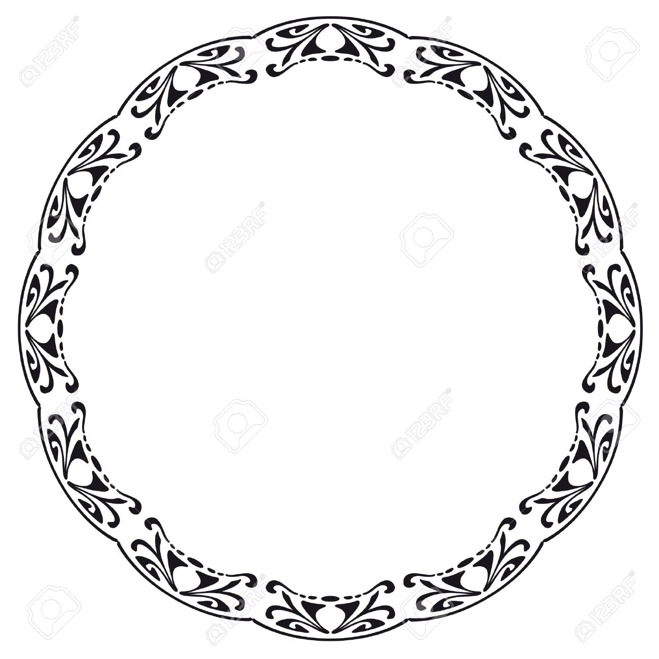 Free Clipart Round Frames.