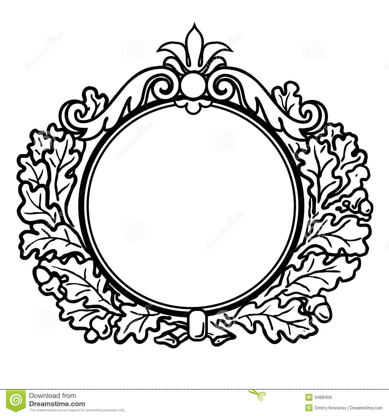 Round Victorian Frame Clipart.
