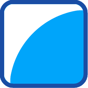 Blue Image With Round Corners.