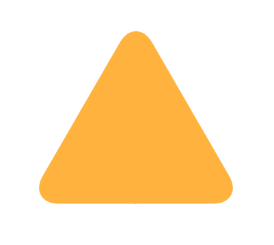 Triangle With Rounded Corners Clipart No Background.