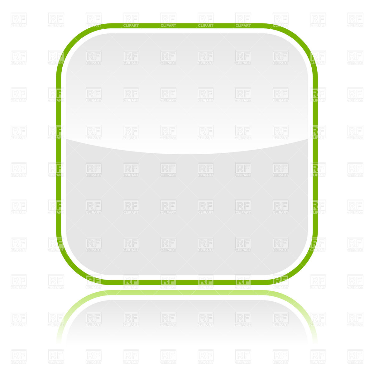 White square button template with rounded corners Vector Image.