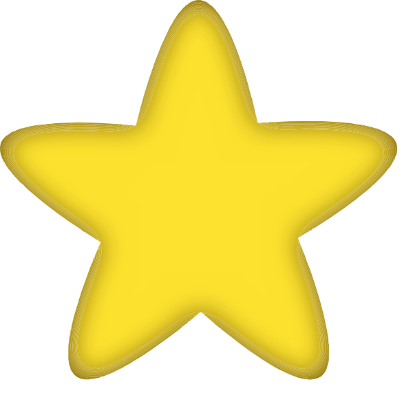 Rounded Star No Background Clip Art at Clker.com.