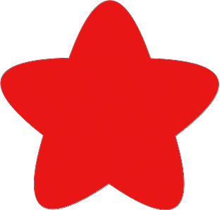 Rounded Star Template.