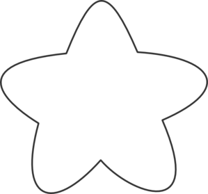 Rounded Star Clip Art Outline.