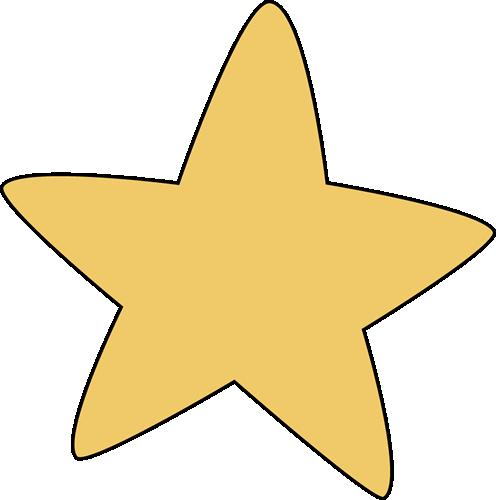 Round Star Clipart.