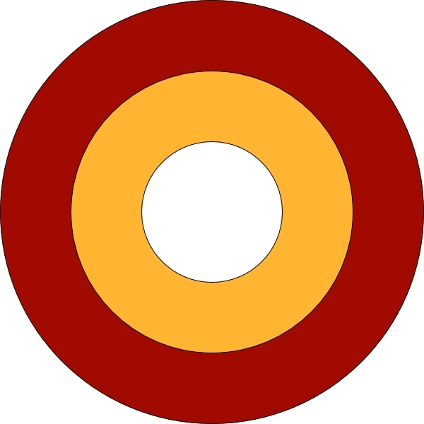 Roundel Qatar clip art Free vector in Open office drawing svg.