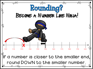 Crafting Connections: Rounding with Number Lines {includes FREE.