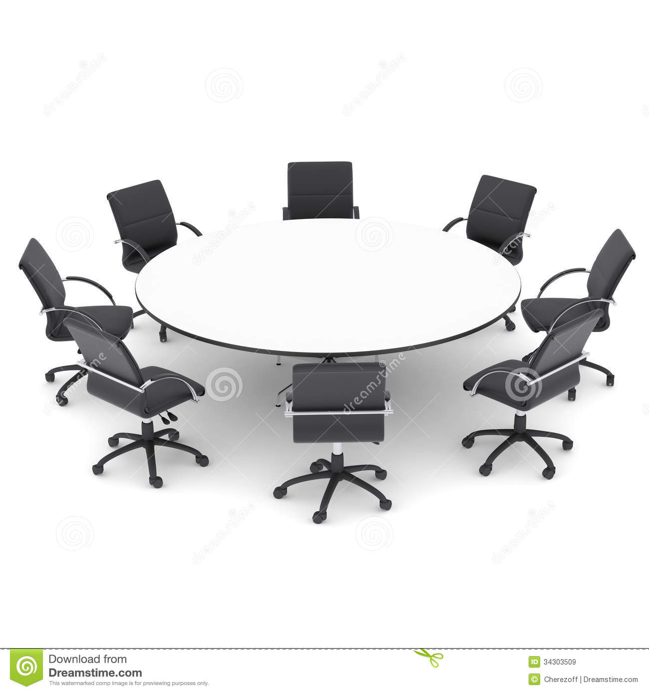 Round Table Black And White Clipart.